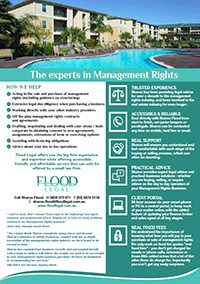 Management Rights Brochure
